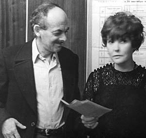 На творческом вечере Беллы Ахмадулиной. ЦДА ВТО. 14 октября 1974г.
