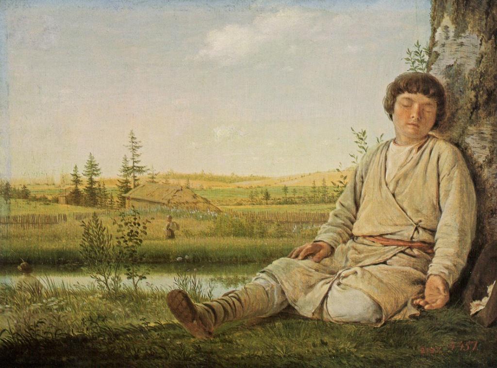 Ил. 6. А.Г. Венецианов. Спящий пастушок. © Государственный Русский музей, Санкт-Петербург, 2018