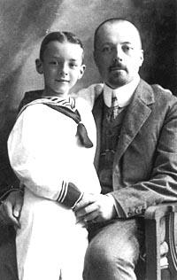 Владимир Дмитриевич Набоков с сыном, 1906г.